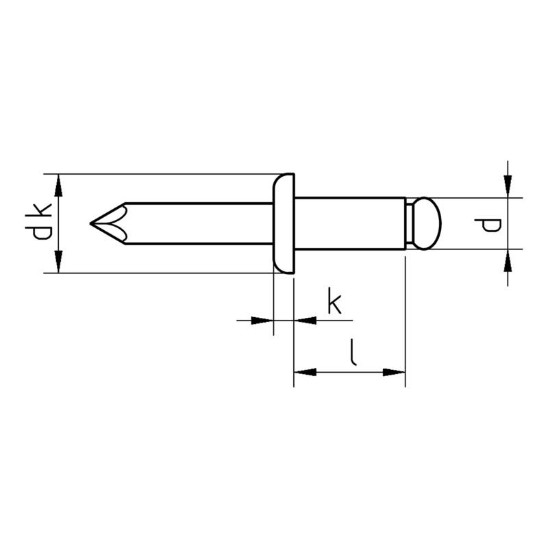 Buy Round pan head blind rivet, copper/bronze online