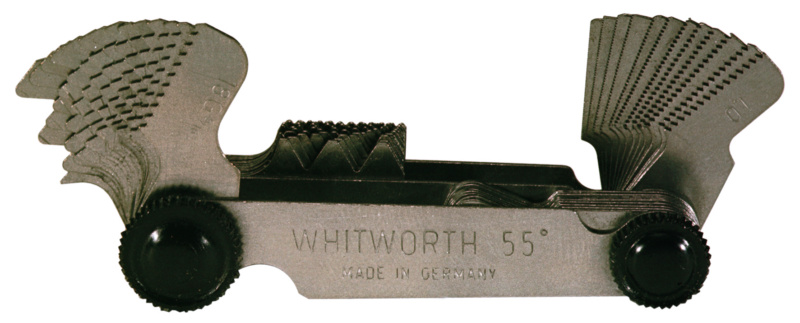 Thread pitch gauge for metric and Whitworth threads - 0705