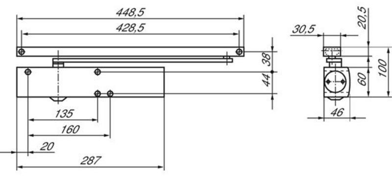 geze t rschlie er ts 5000 l f r bandgegenseite 7207 500 011. Black Bedroom Furniture Sets. Home Design Ideas