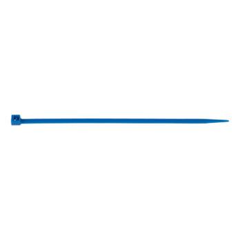 Kabelbinder met kunststof lipsluiting, blauw