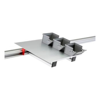 CLIP-O-FLEX® Tablar Fifo-Flex Behälterablage für gänge Behälter, seitlich und hinten randlos | 1967700672