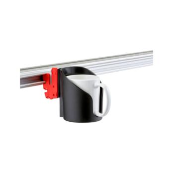CLIP-O-FLEX® Halter Varioflex Halterung mit Boden, 1-fache Ausführung | 1967700025