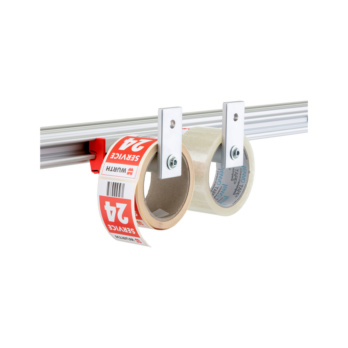 CLIP-O-FLEX® holder Uniflex Two circular tubes as supporting surface for goods by metre, incl. stopper, wide range of applications | 1967780080