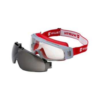 Vollsichtbrille Scorpius mit Sonnenschutz-Vorsatzscheibe