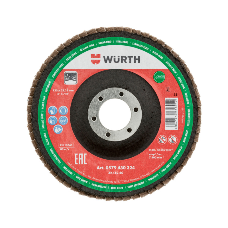 Disque à lamelles Würth zirconium