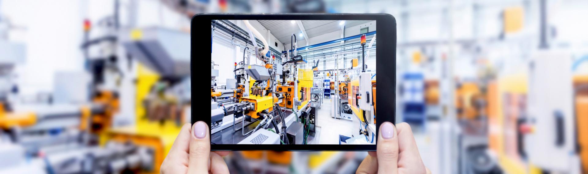 Fotografieren einer Produktionshalle mit iPad