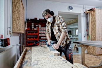 Geeignete Atemschutzmasken bei Holzstaub