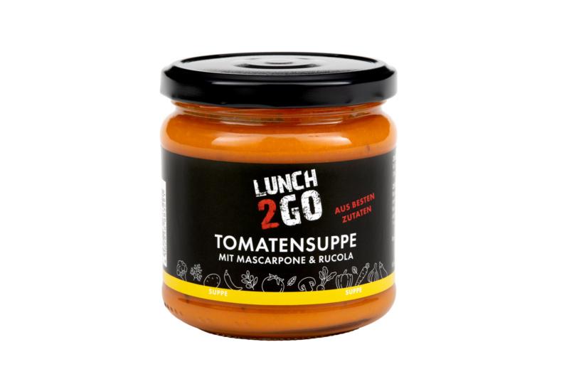 Tomatensuppe mit Mascarpone & Rucola
